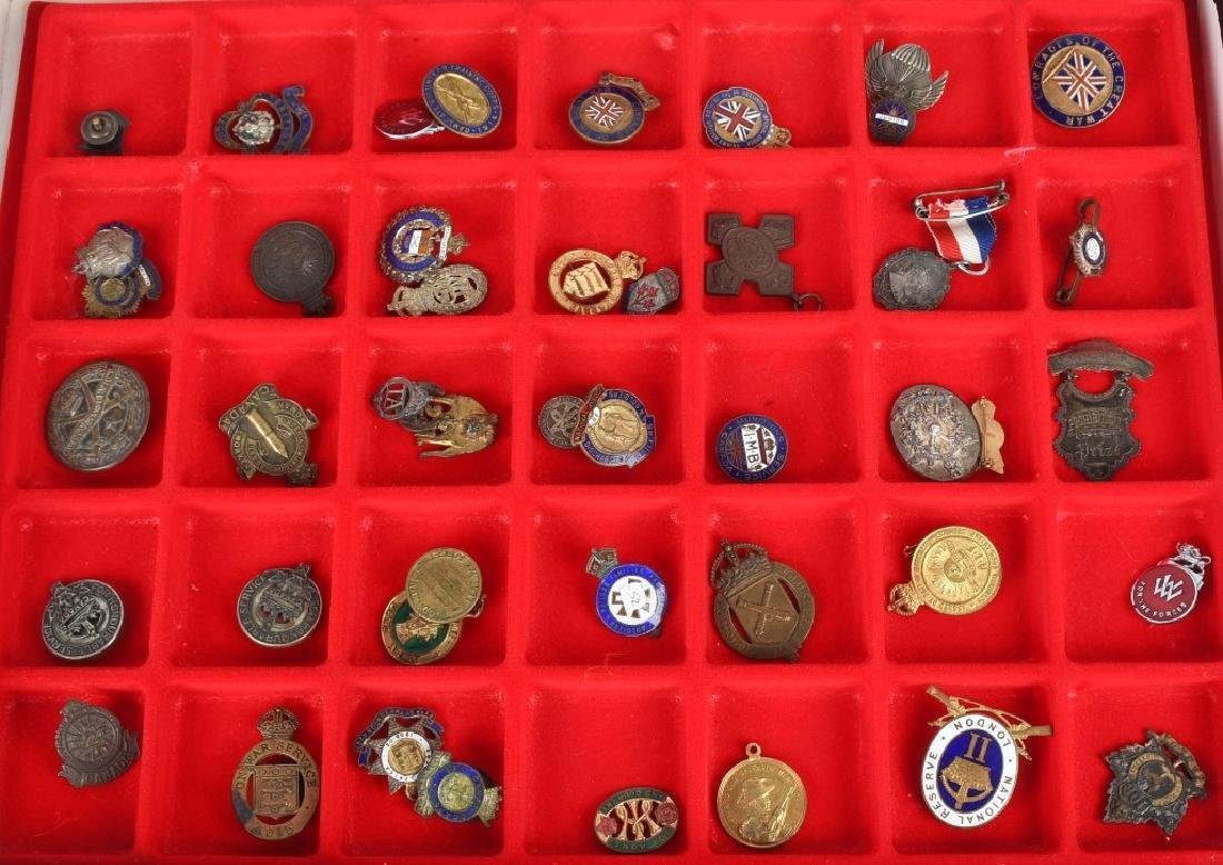WWI - WWII BRITISH PIN AND MEDAL LOT
