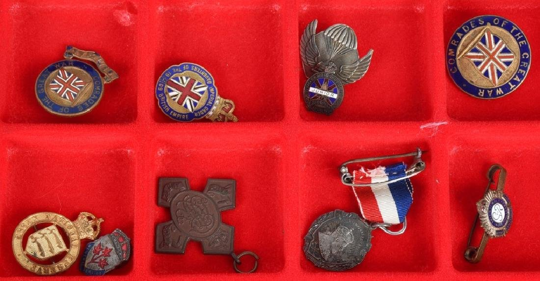 WWI - WWII BRITISH PIN AND MEDAL LOT - 3