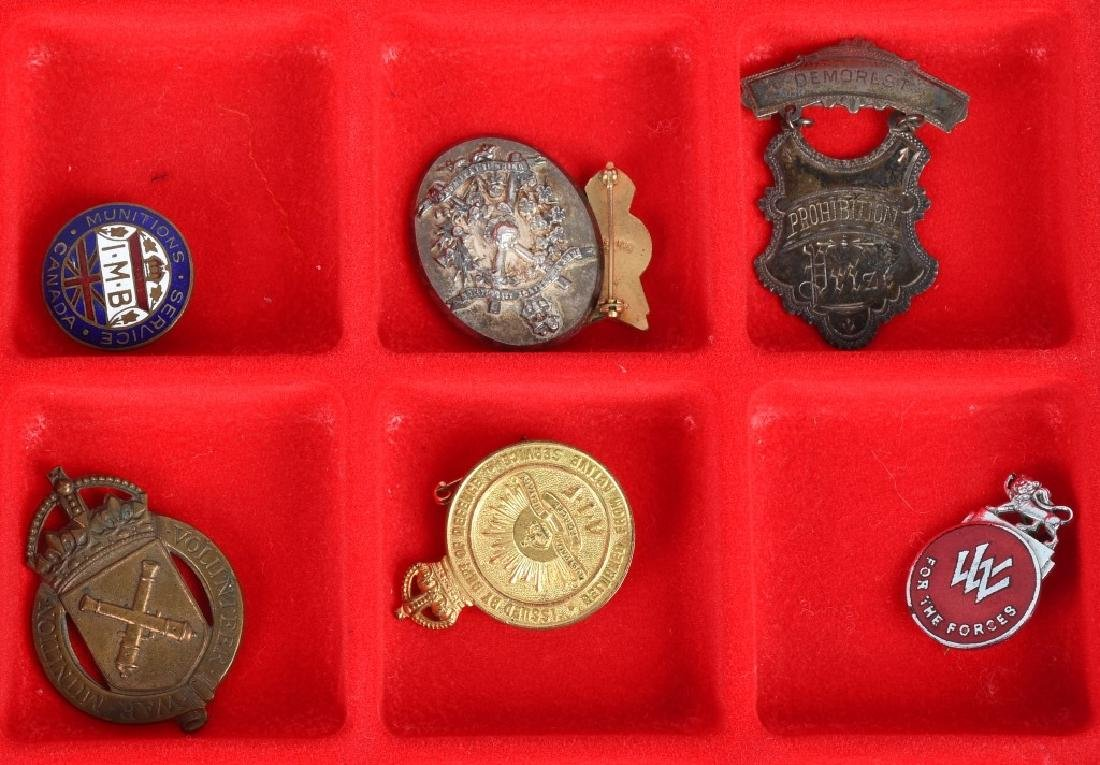 WWI - WWII BRITISH PIN AND MEDAL LOT - 4
