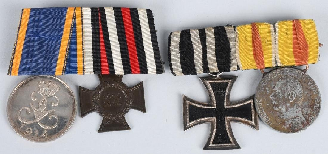 WWI IMPERIAL GERMAN MEDAL BAR LOT (2)
