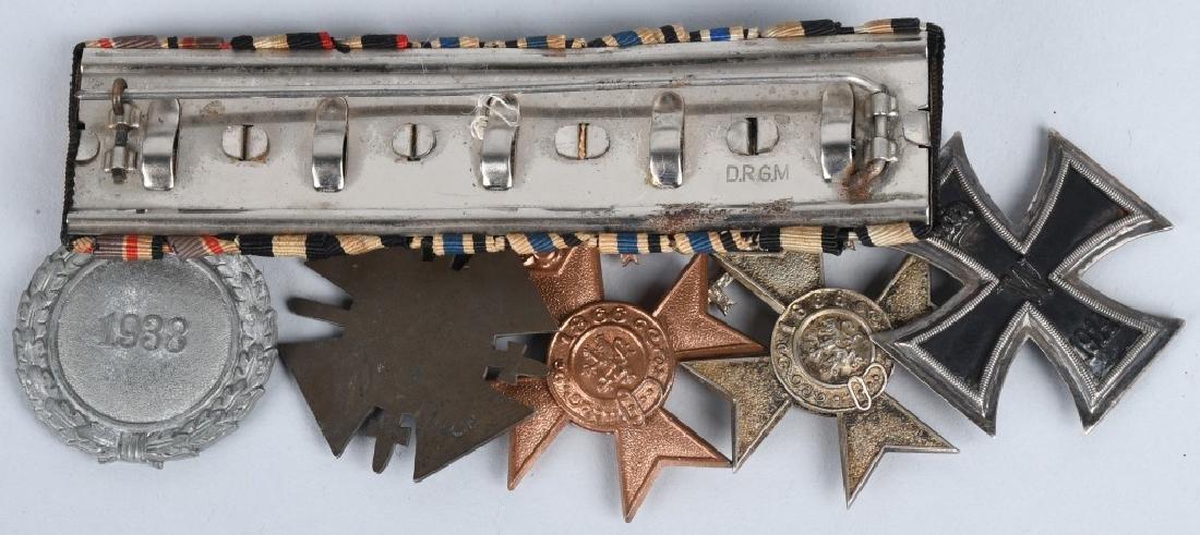 WWI - WWII MEDAL BAR BAVARIAN WAR MERIT MEDALS ETC - 4