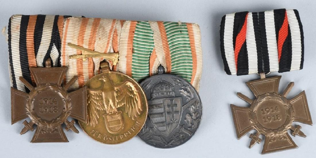 WWI IMPERIAL AUSTRIAN AND GERMAN MEDAL BAR LOT (2)