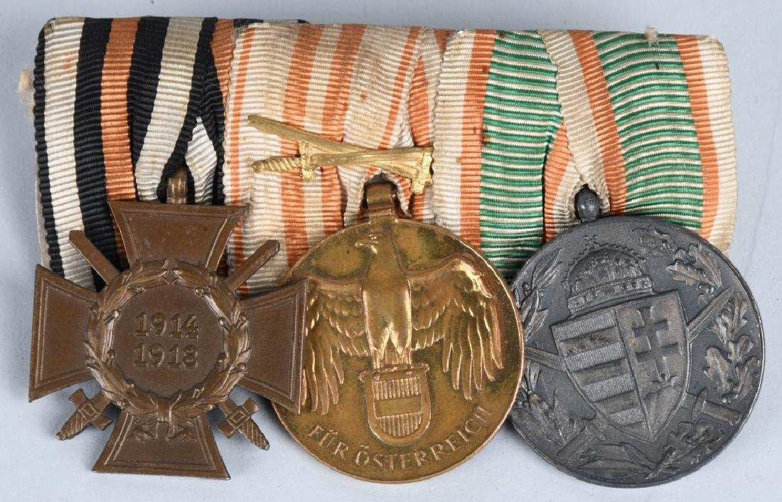 WWI IMPERIAL AUSTRIAN AND GERMAN MEDAL BAR LOT (2) - 4