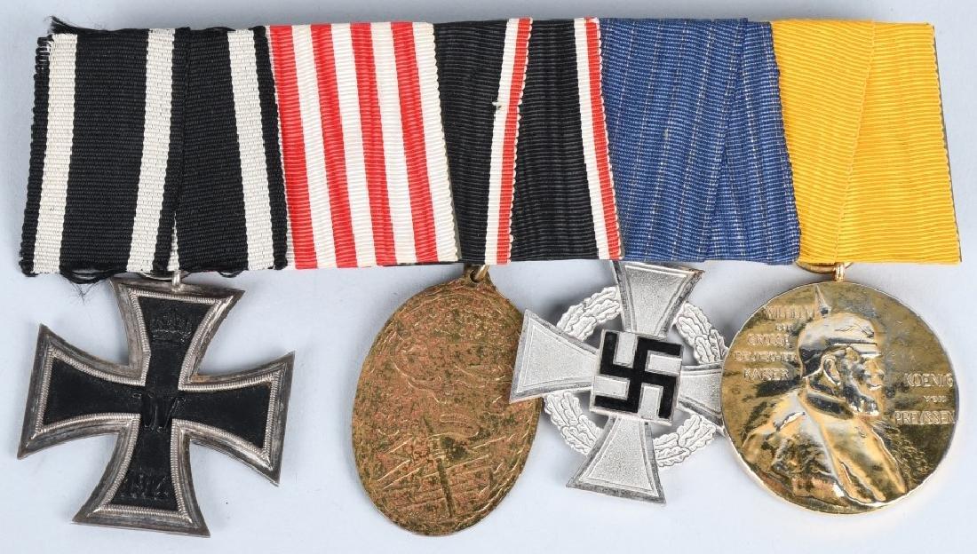 WWI IMPERIAL GERMAN - WWII 5 MEDAL BAR