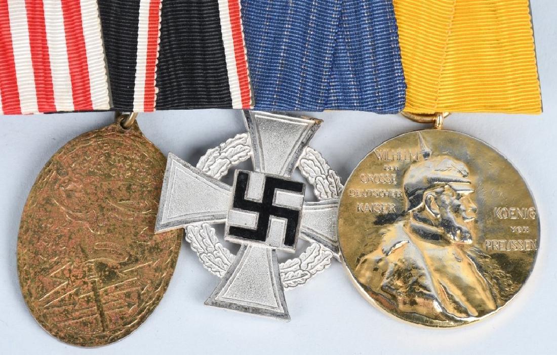 WWI IMPERIAL GERMAN - WWII 5 MEDAL BAR - 3