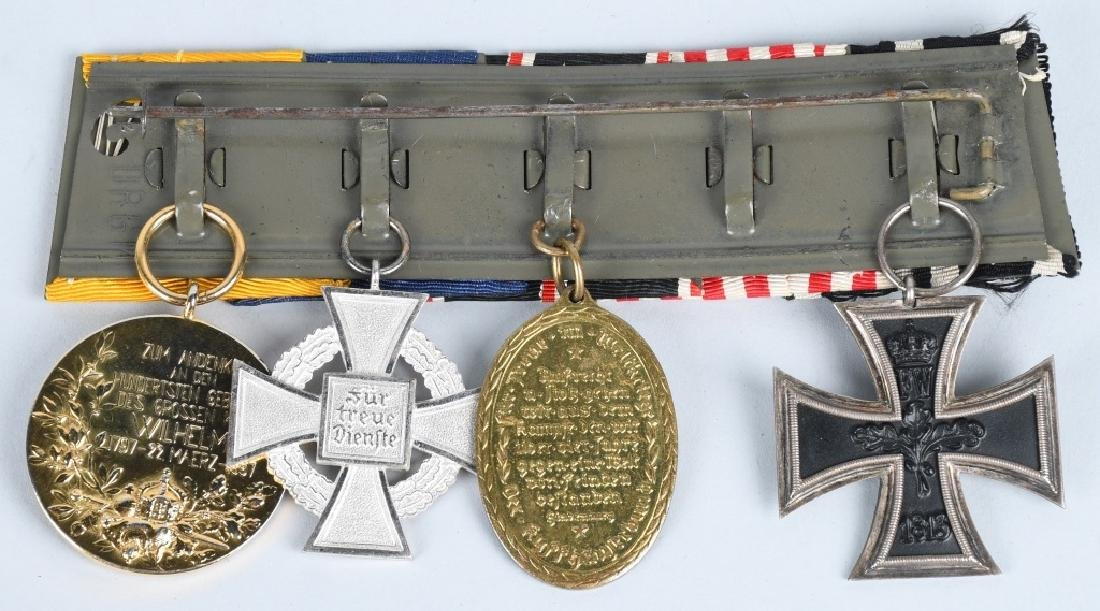 WWI IMPERIAL GERMAN - WWII 5 MEDAL BAR - 4