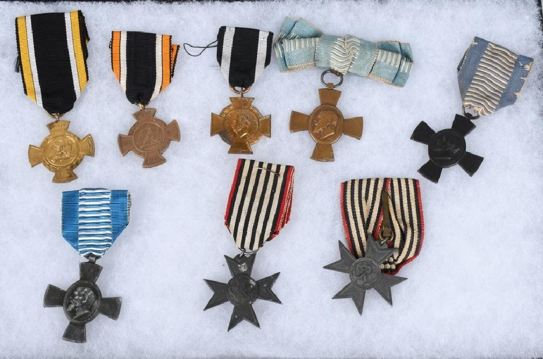WWI IMPERIAL GERMAN & BAVARIAN SERVICE MEDALS