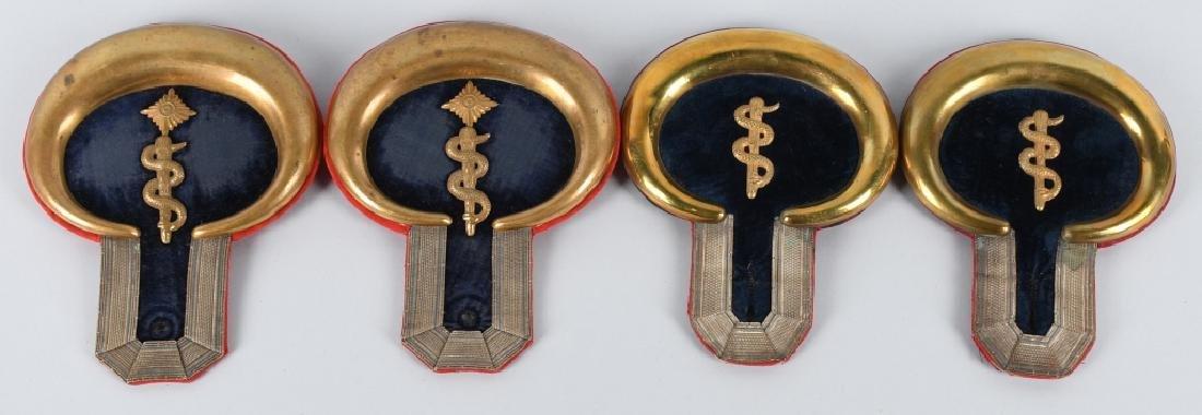 WWI IMPERIAL GERMAN MEDICAL OFFICER EPAULETTES LOT