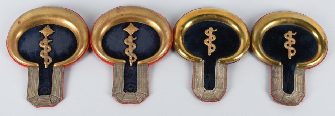 WWI IMPERIAL GERMAN MEDICAL OFFICER EPAULETTES LOT
