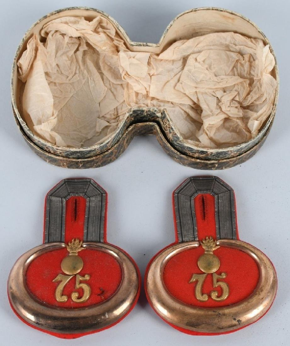 WWI GERMAN CASED PAIR COAST ARTILLERY EPAULETTES - 2