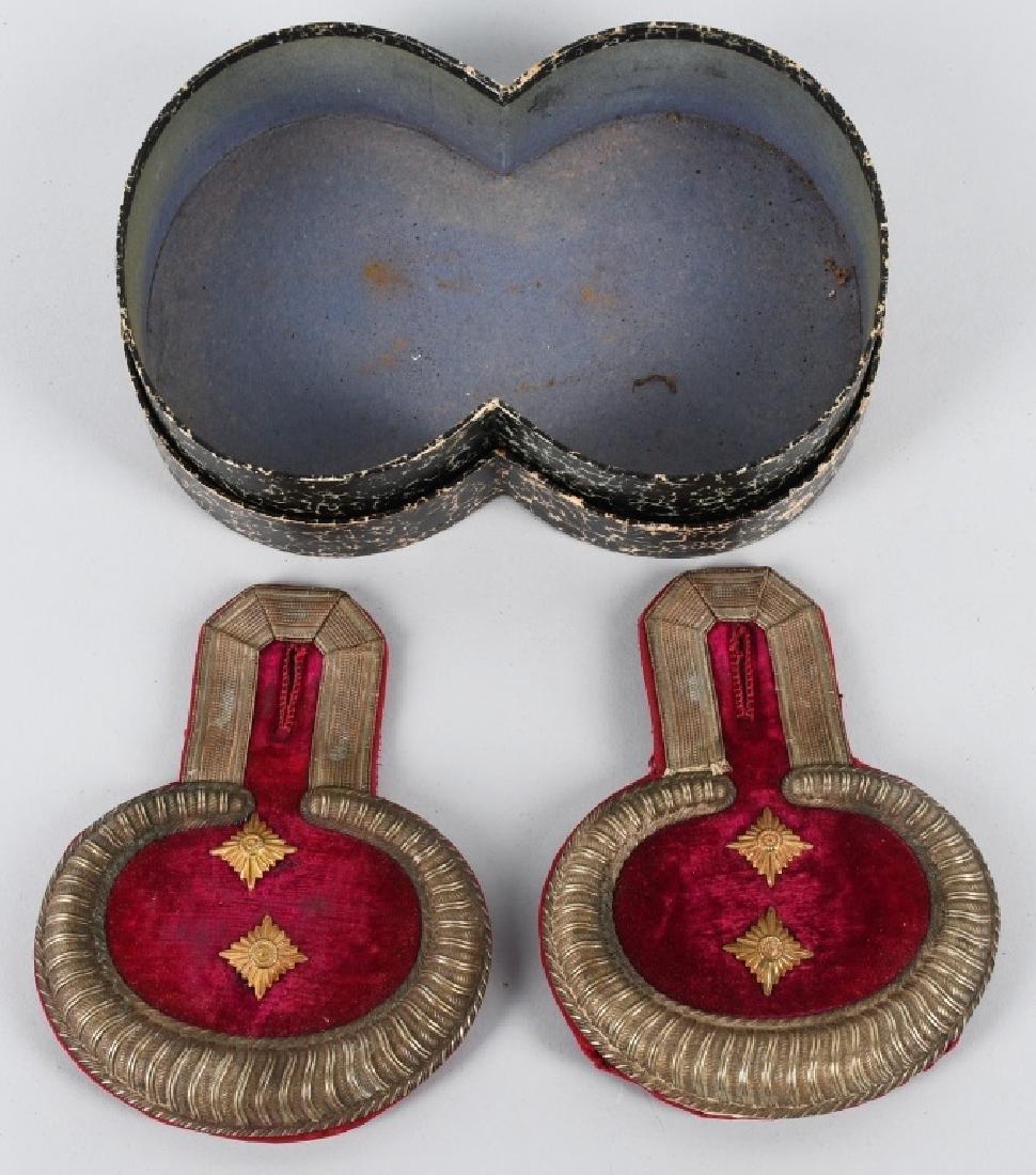 WWI IMPERIAL GERMAN CASED CAPTAIN RANK EPAULETTES
