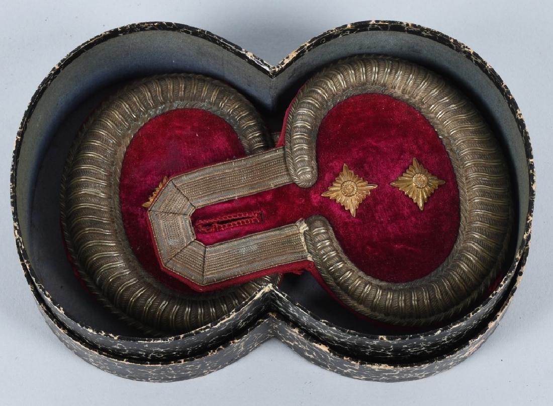 WWI IMPERIAL GERMAN CASED CAPTAIN RANK EPAULETTES - 3