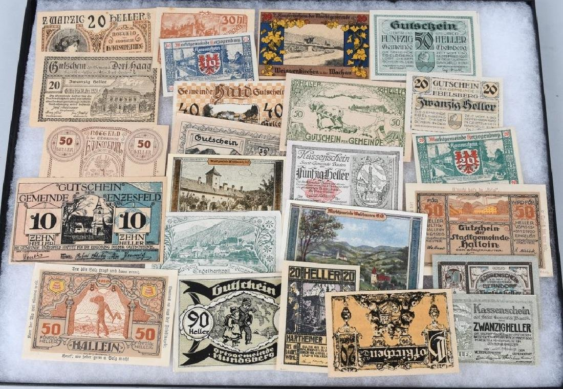 WWI ERA GERMAN NOTGELD EMERGENCY MONEY LOT (24)