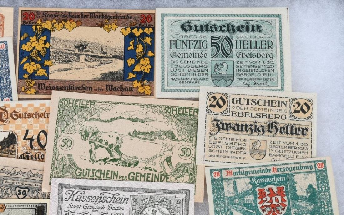 WWI ERA GERMAN NOTGELD EMERGENCY MONEY LOT (24) - 3