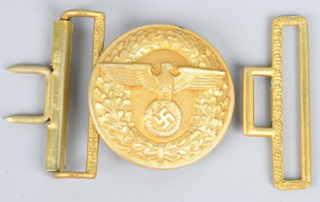 WWII POLITICAL LEADER NSDAP BELT BUCKLE LOT (2) - 2