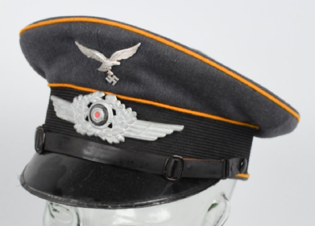 WWII NAZI GERMAN LUFTWAFFE EM VISOR CAP