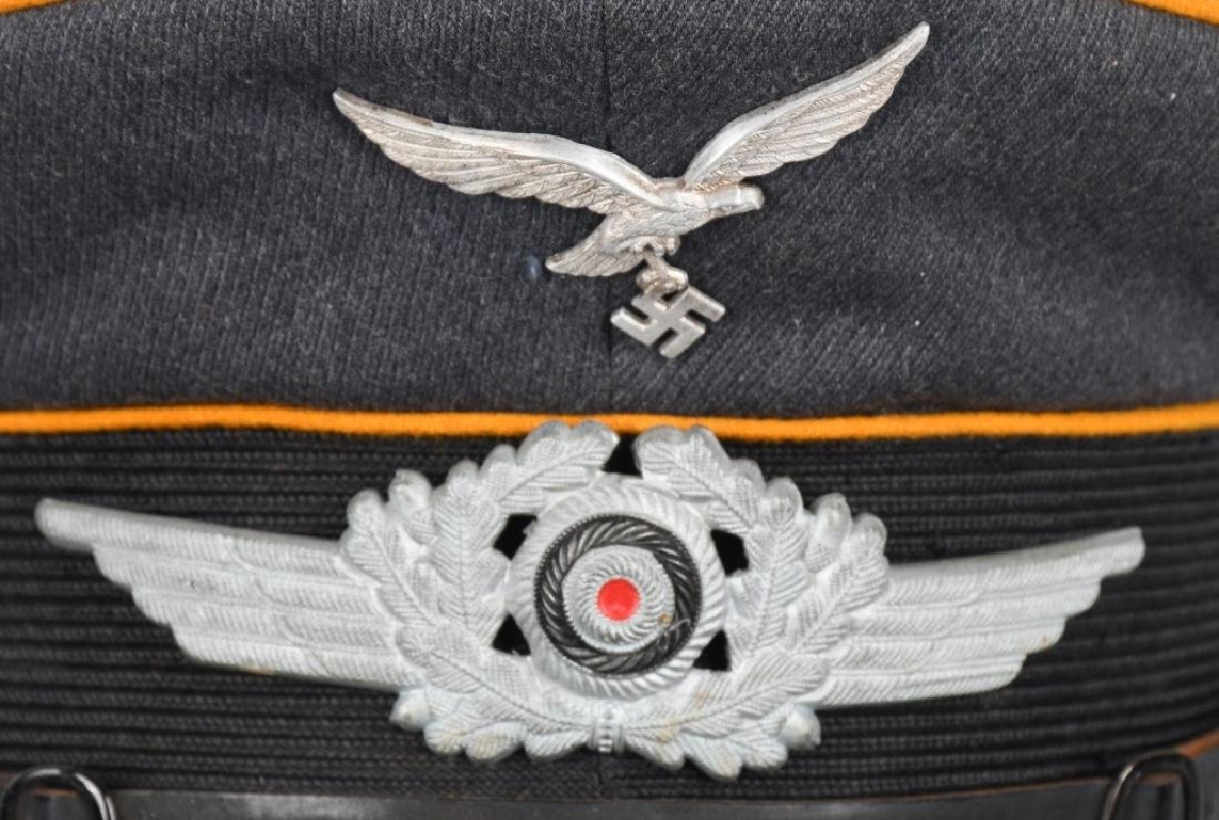 WWII NAZI GERMAN LUFTWAFFE EM VISOR CAP - 2