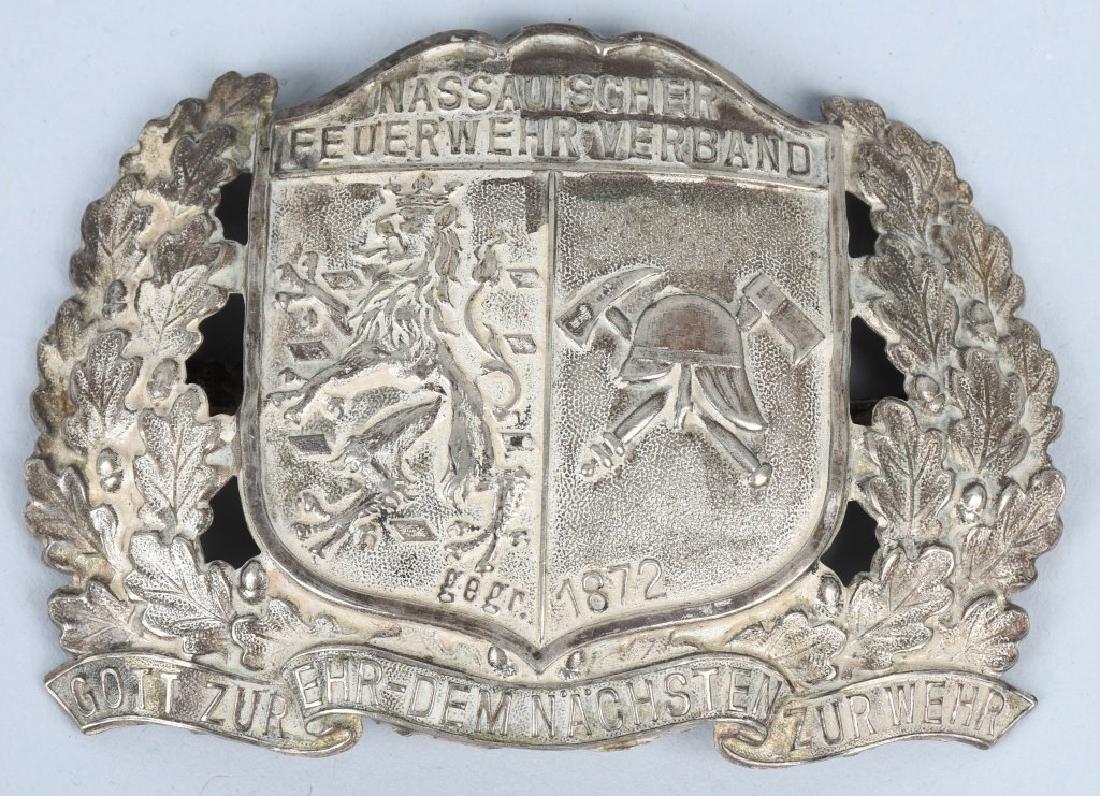 WWII NAZI GERMAN SA BUCKLE & WWI FIRE POLICE PLATE - 4