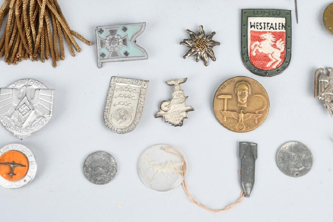 WWII NAZI GERMAN TINNIE LOT & MISCELLANEOUS - 6
