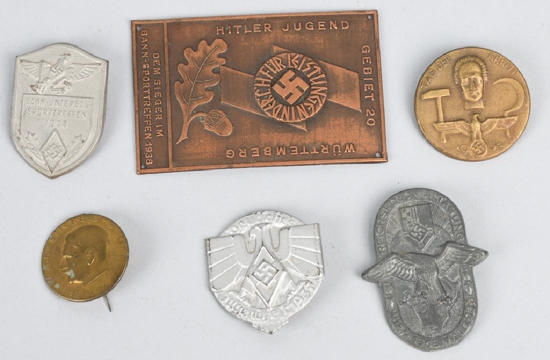WWII NAZI GERMAN TINNIE LOT & MISCELLANEOUS - 8