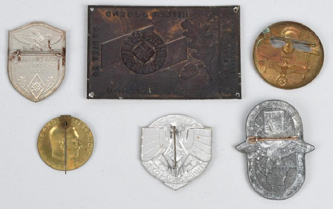 WWII NAZI GERMAN TINNIE LOT & MISCELLANEOUS - 9