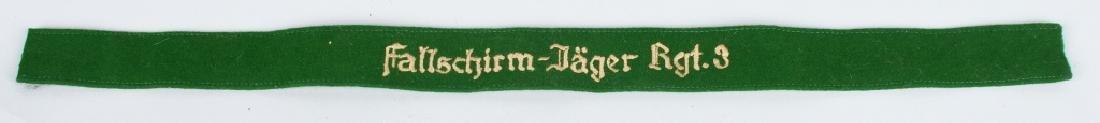 WWII GERMAN FALLSCHIRMJAGER RGT 3 CUFF TITLE