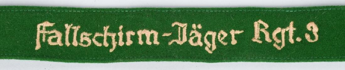 WWII GERMAN FALLSCHIRMJAGER RGT 3 CUFF TITLE - 2