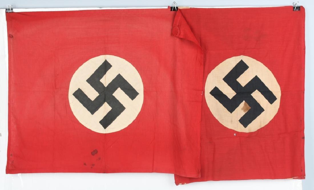 WWII NAZI GERMAN NSDAP BANNER - FLAG LOT
