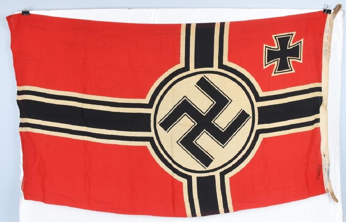 WWII NAZI GERMAN KRIEGSMARINE FLAG - 6