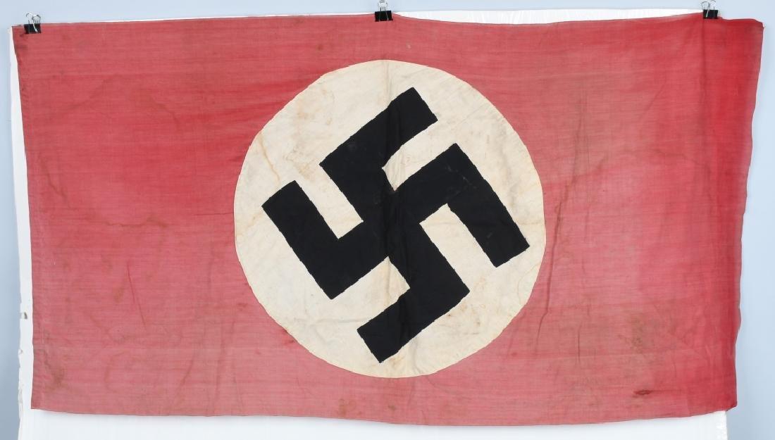 WWII NAZI GERMAN FLAG -1945 CAPTURED & GI SIGNED - 7