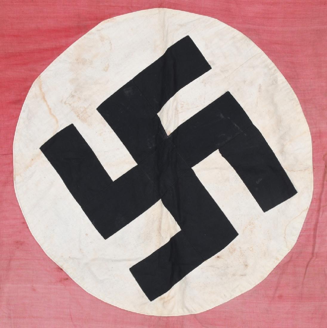 WWII NAZI GERMAN FLAG -1945 CAPTURED & GI SIGNED - 8