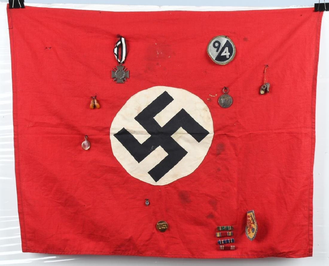 WWII NAZI GERMAN FLAG CAPTURED BY 94TH DIVISION GI