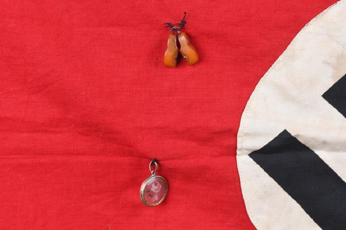 WWII NAZI GERMAN FLAG CAPTURED BY 94TH DIVISION GI - 4