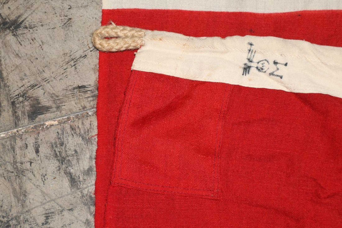 WWII NAZI GERMAN WOOL KRIEGSMARINE FLAG - 10