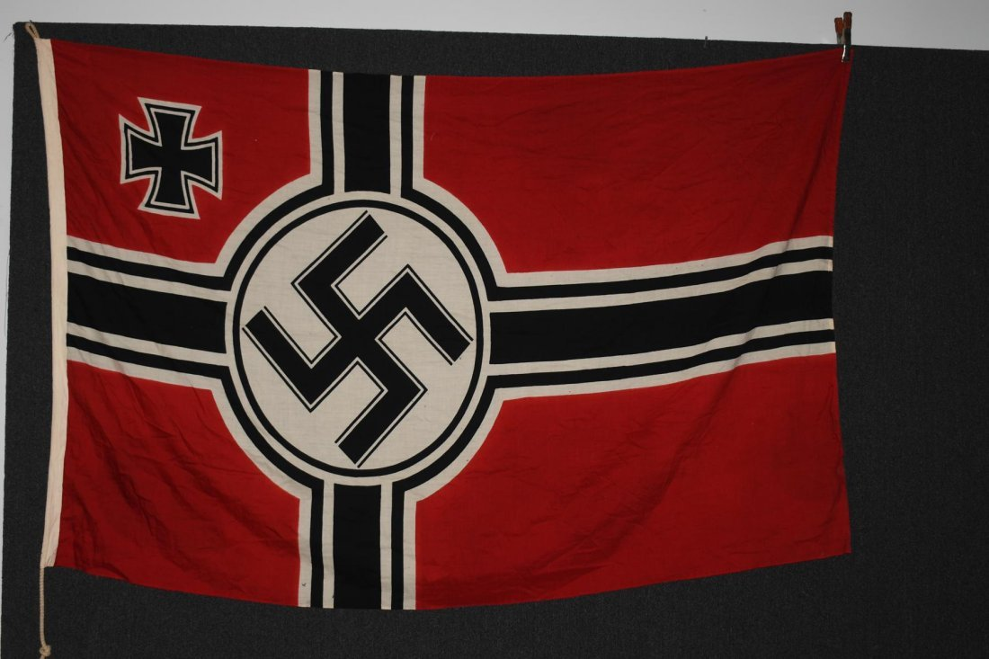 WWII NAZI GERMAN WOOL KRIEGSMARINE FLAG