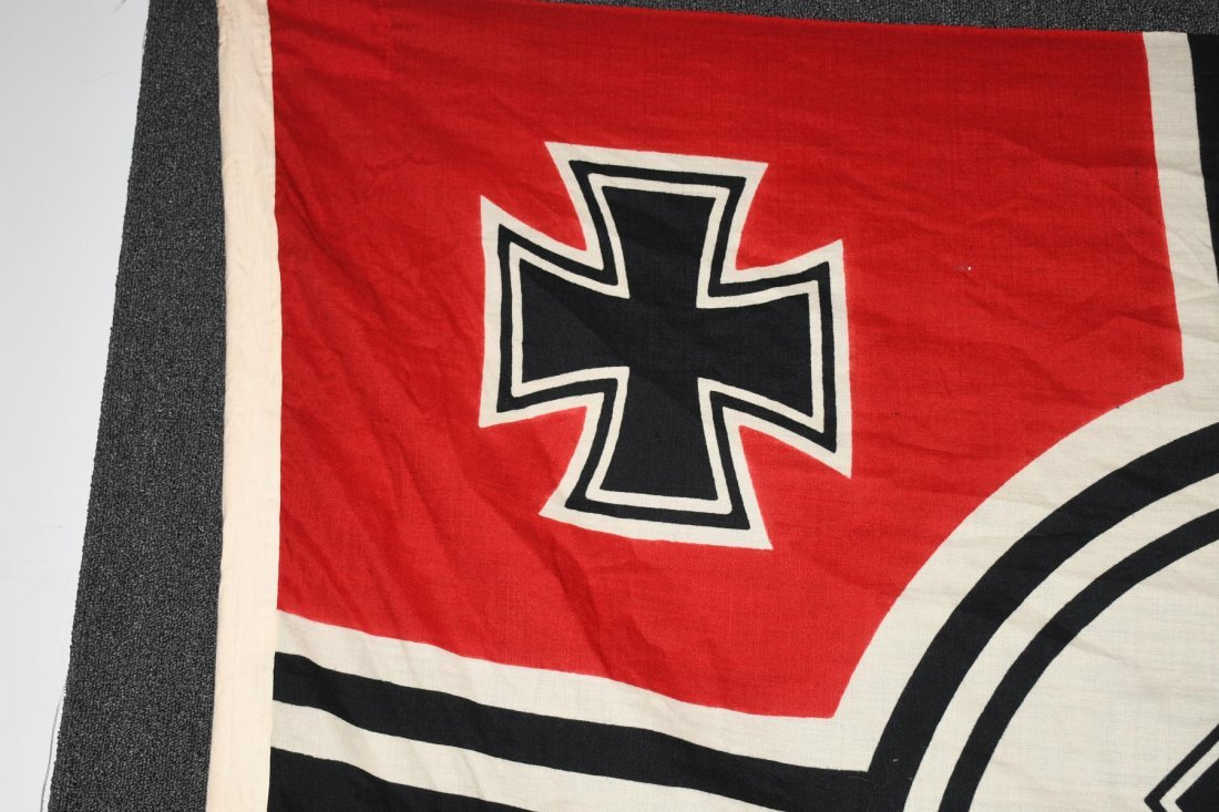 WWII NAZI GERMAN WOOL KRIEGSMARINE FLAG - 2
