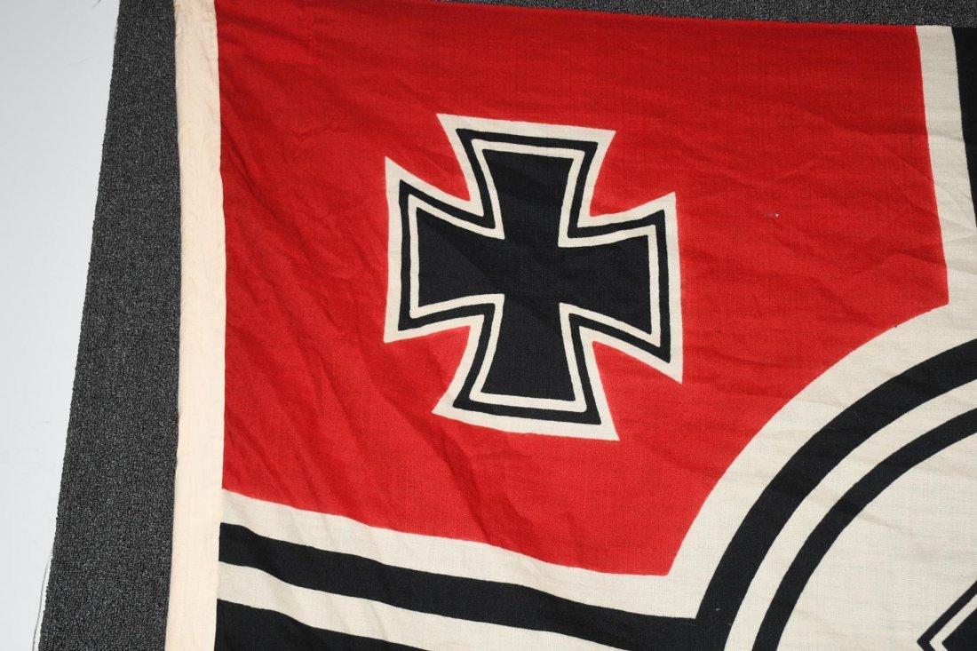 WWII NAZI GERMAN WOOL KRIEGSMARINE FLAG - 2