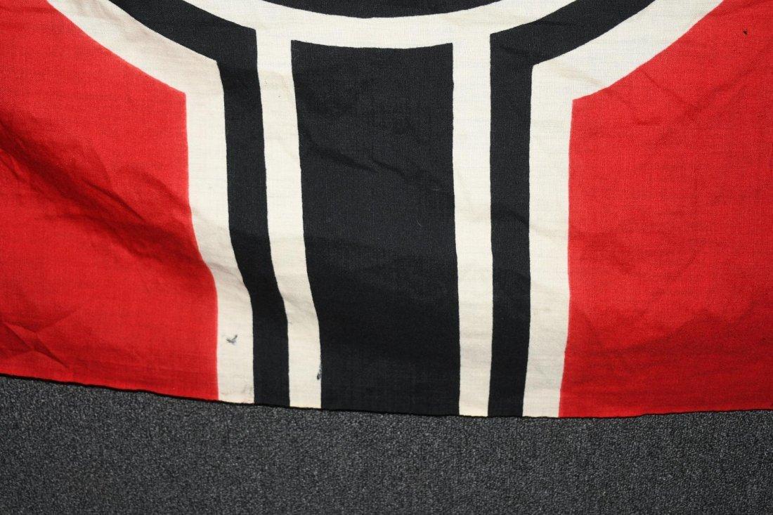 WWII NAZI GERMAN WOOL KRIEGSMARINE FLAG - 3