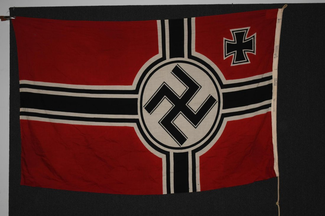 WWII NAZI GERMAN WOOL KRIEGSMARINE FLAG - 5
