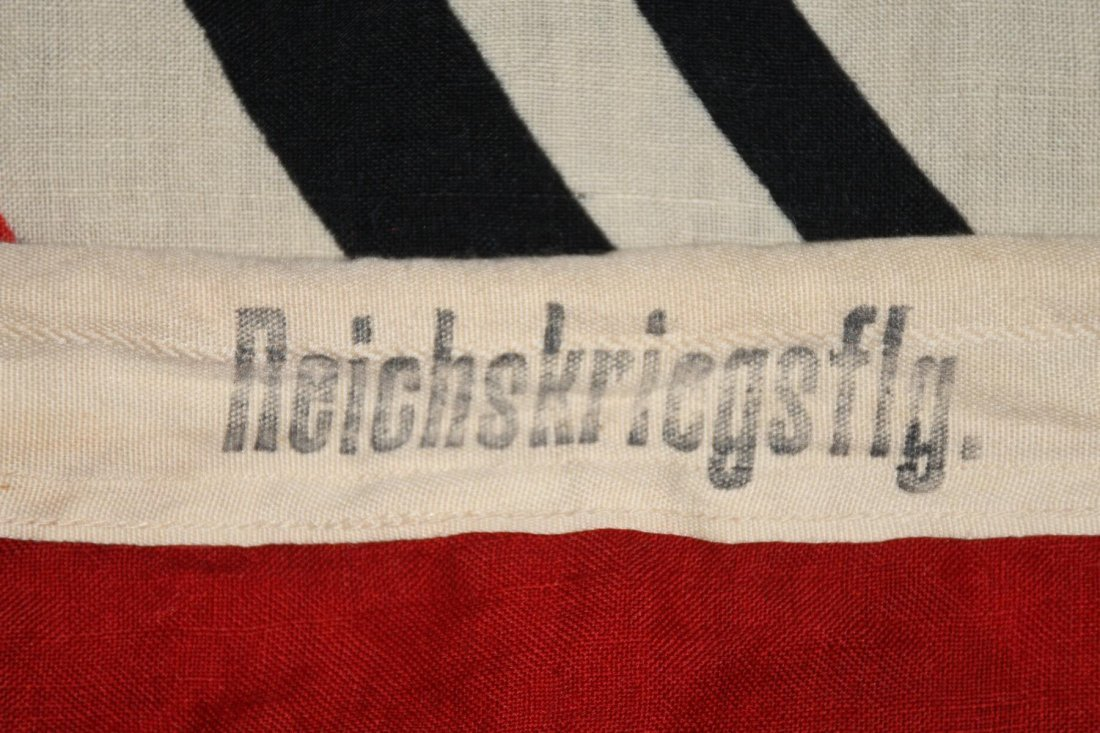 WWII NAZI GERMAN WOOL KRIEGSMARINE FLAG - 6