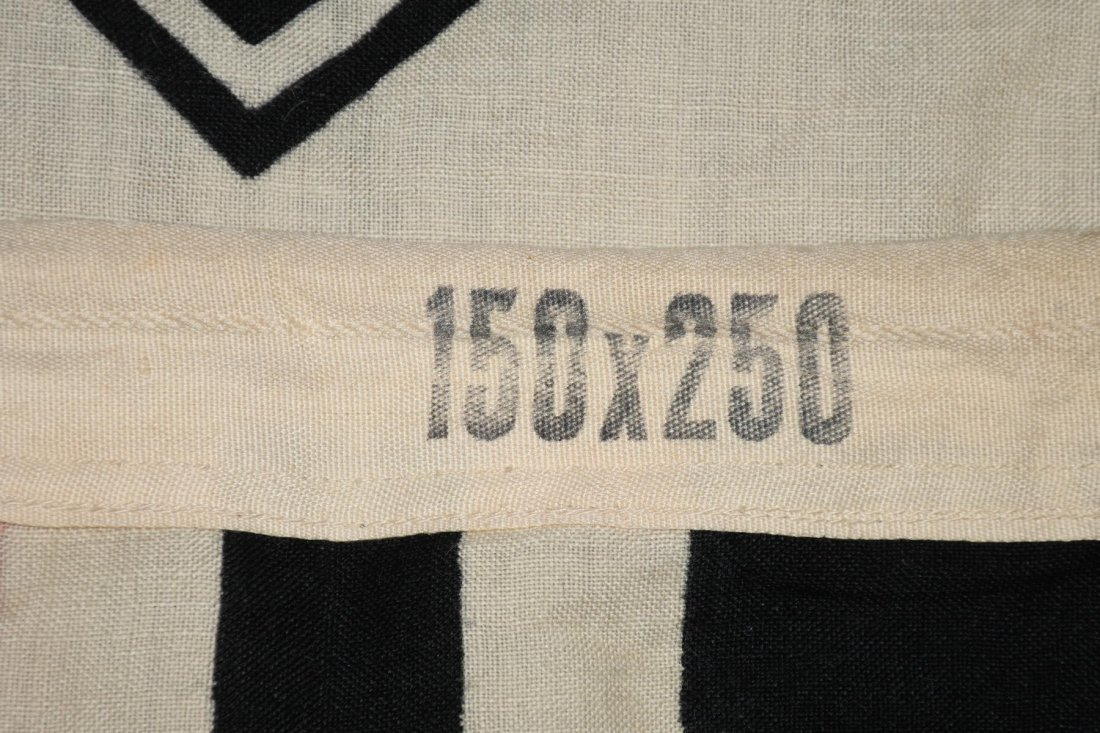 WWII NAZI GERMAN WOOL KRIEGSMARINE FLAG - 7
