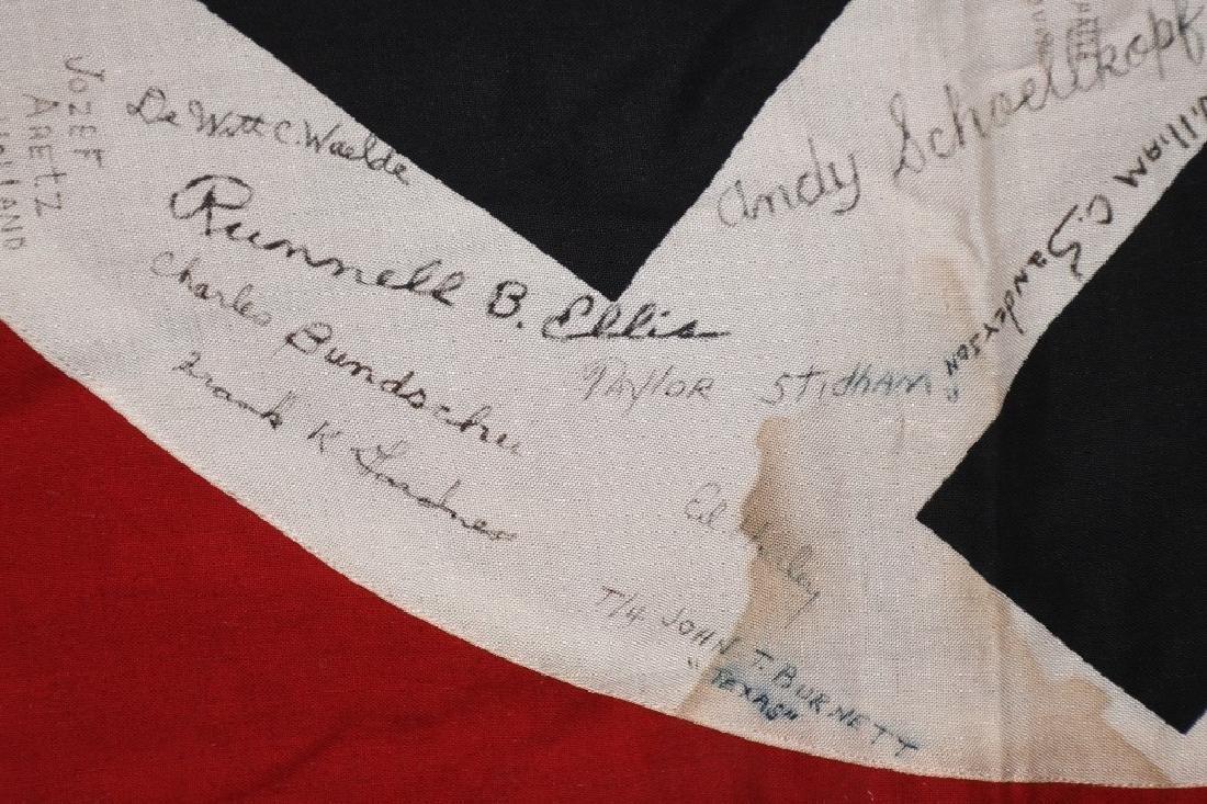 WWII NAZI VEHICLE ID FLAG GI SIGNED 84 SIGNAL CO. - 10