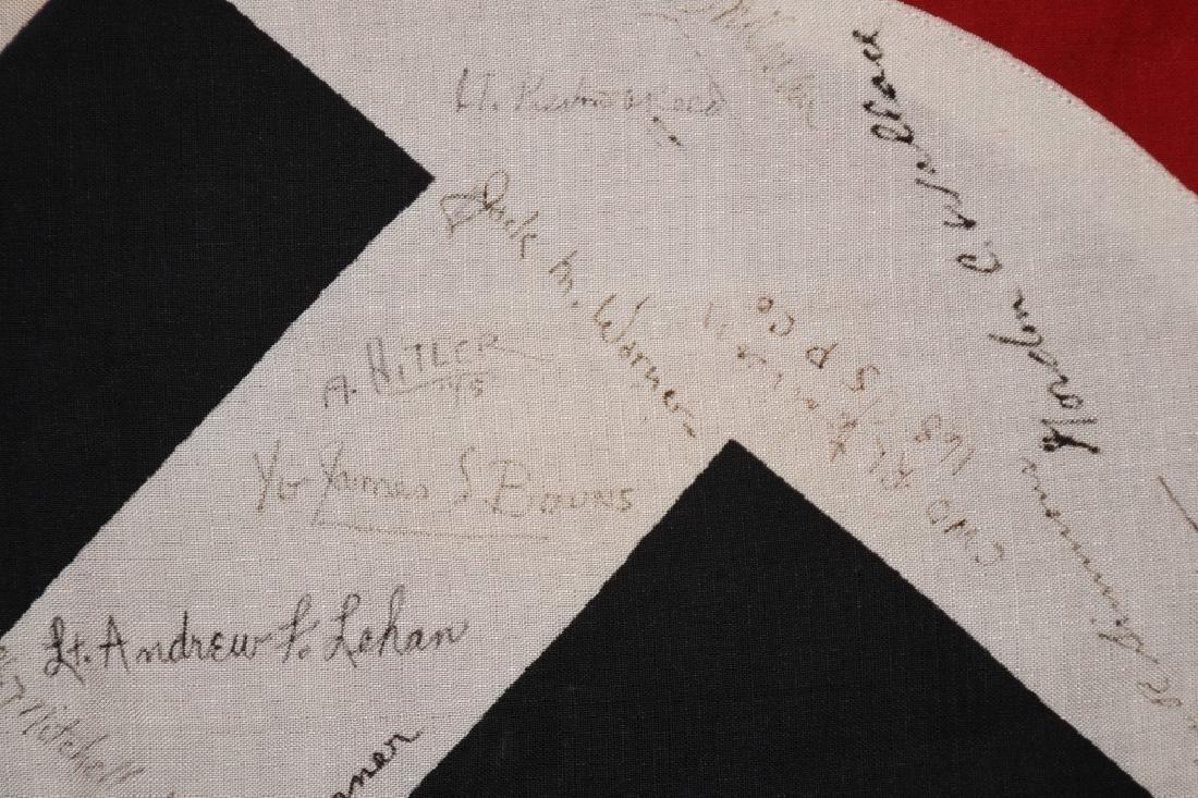 WWII NAZI VEHICLE ID FLAG GI SIGNED 84 SIGNAL CO. - 4