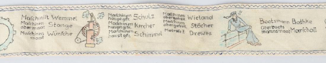 WWII NAZI KRIEGSMARINE ADMIRAL COMMAND PENNANT - 5