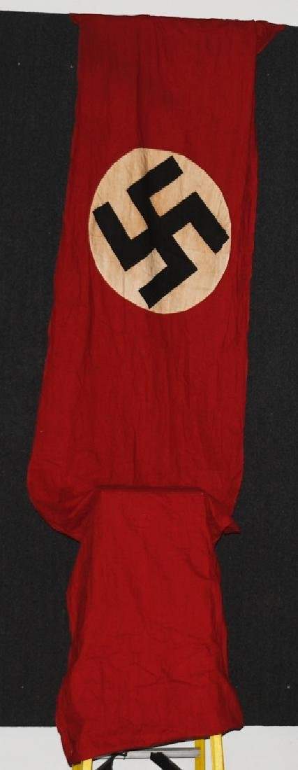 WWII NAZI GERMAN BANNER WITH ANGLED SIDE