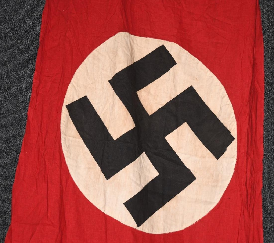 WWII NAZI GERMAN BANNER WITH ANGLED SIDE - 2