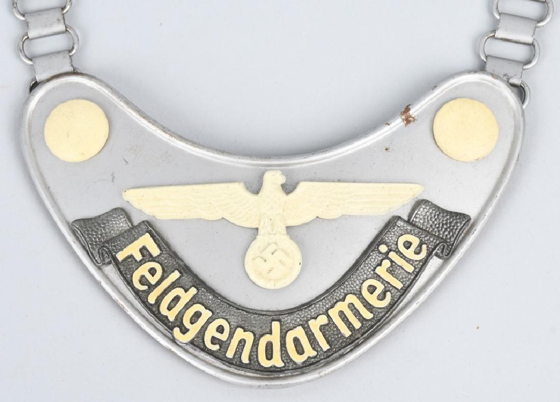 WWII NAZI GERMAN FELDGENDARMERIE GORGET - 2