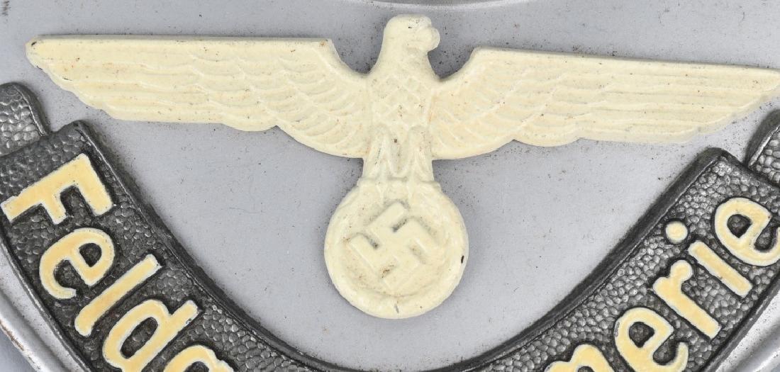 WWII NAZI GERMAN FELDGENDARMERIE GORGET - 3