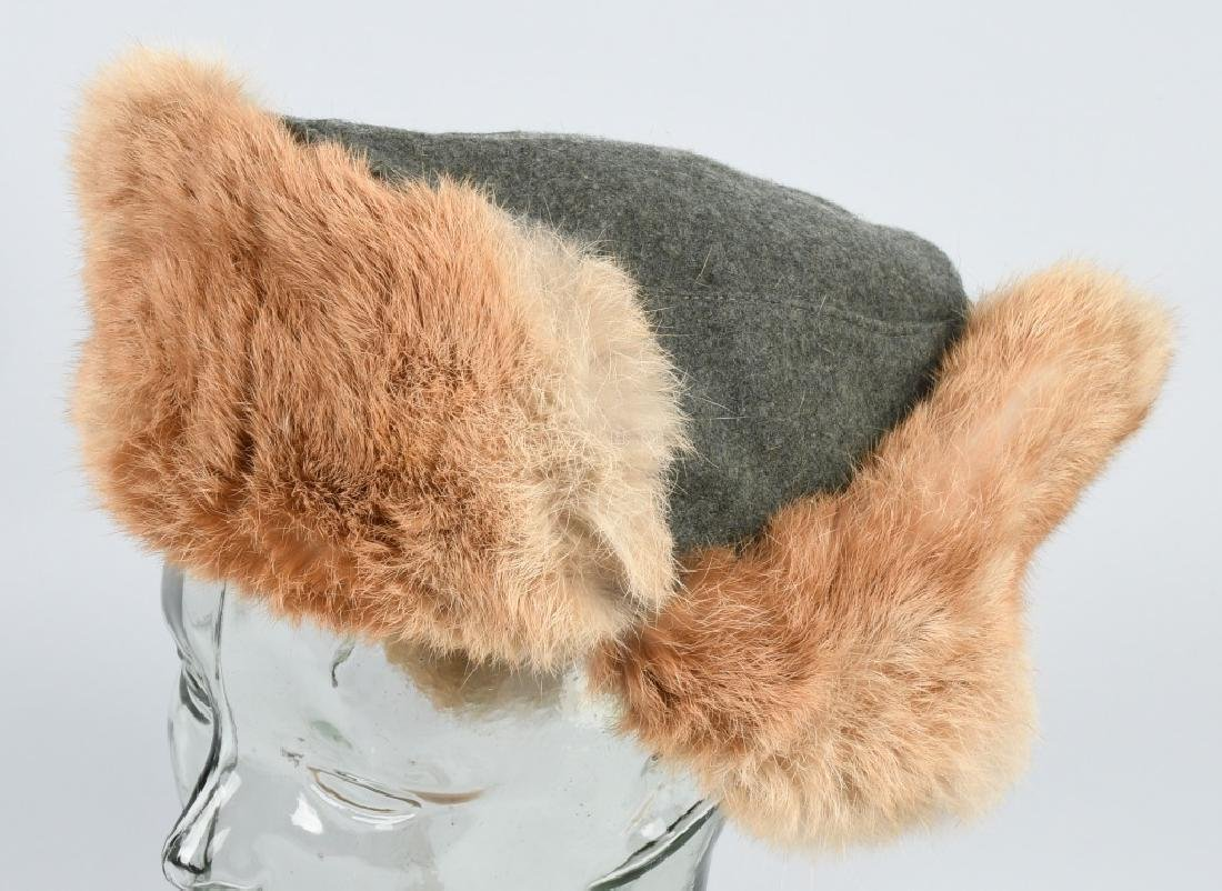 WWII NAZI GERMAN ARMY WINTER FUR HAT