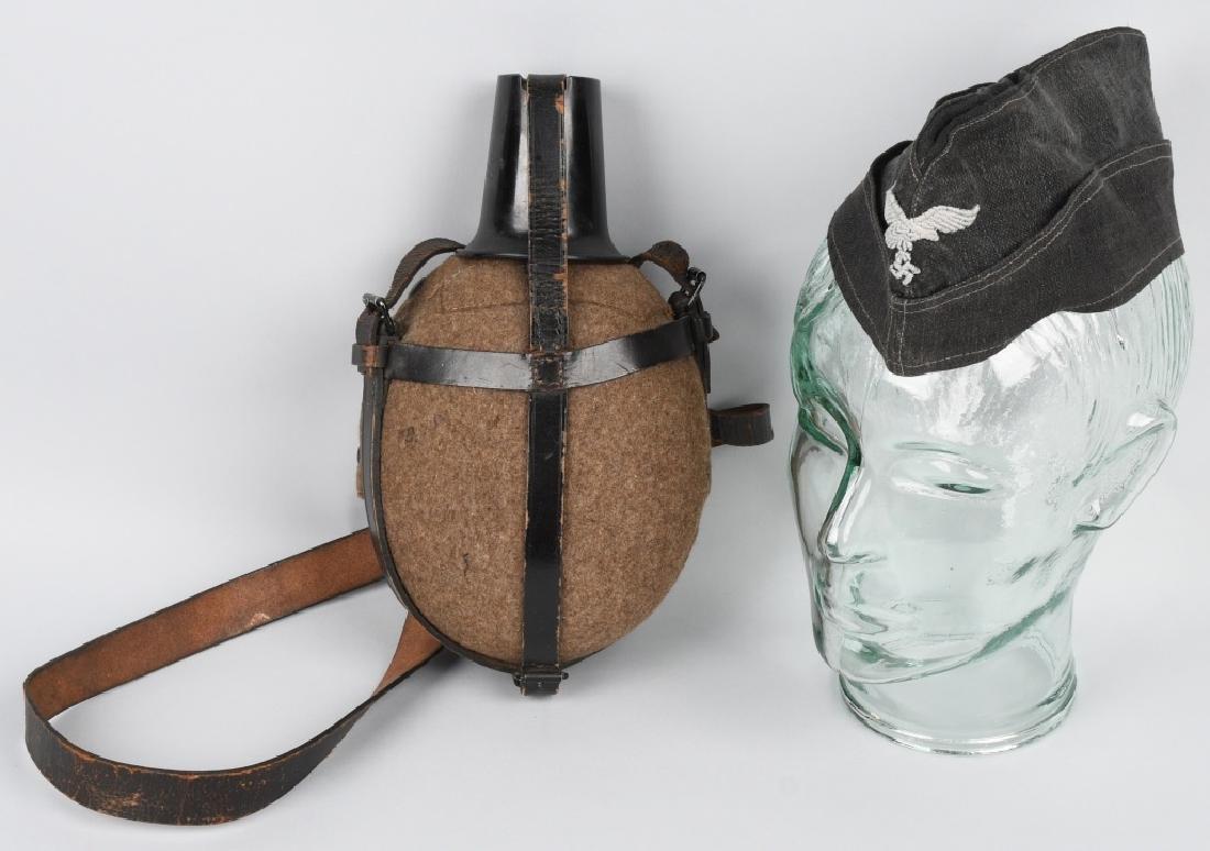 WWII NAZI GERMAN LUFTWAFFE HAT & MED. CANTEEN